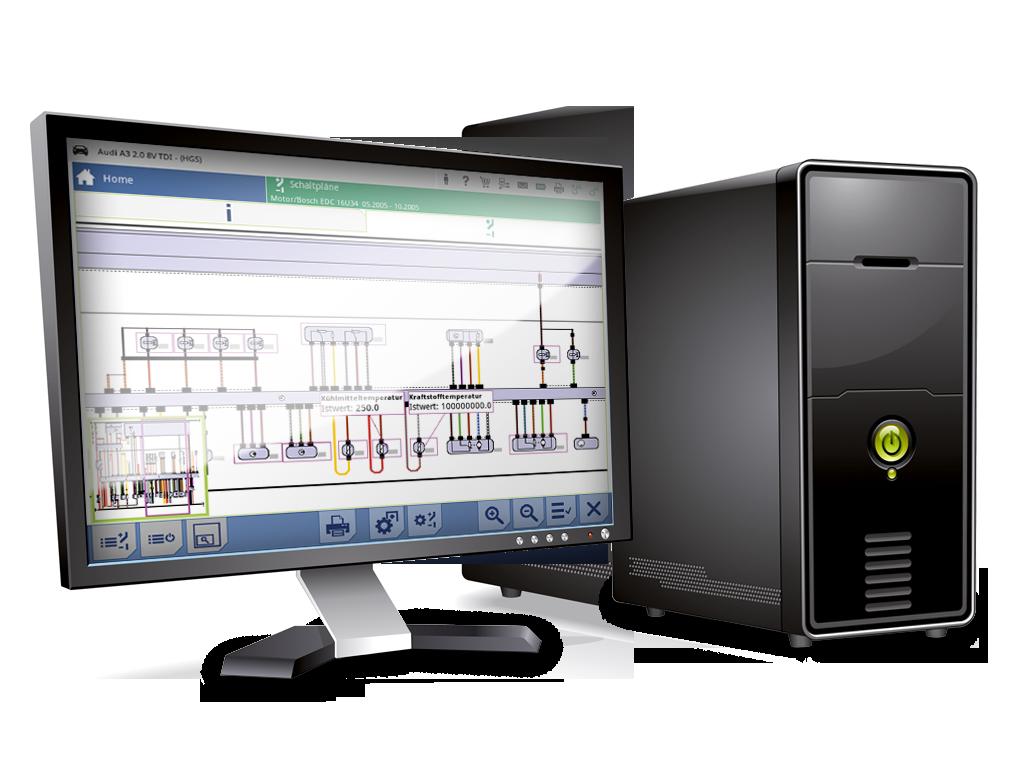 mega macs PC, interaktive Stromlaufpläne